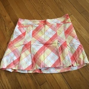 🏌️‍♀️LADY HAGEN PEACH PLAID GOLF SKORT⛳️🏌️‍♀️🧡